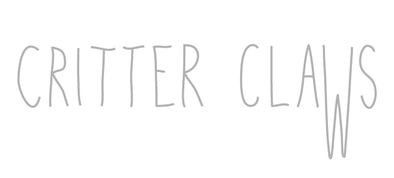 Critter Claws_Logo header-03 BW